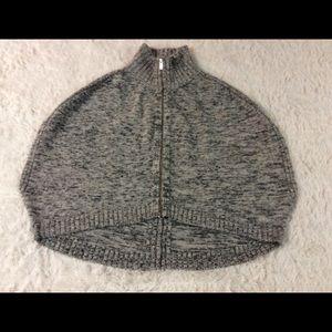 Banana Republic Circle Poncho Style Zip Sweater M